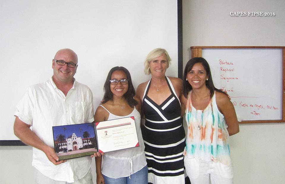 CAPES FIPSE 2014: Liz Dinsdale estudantes